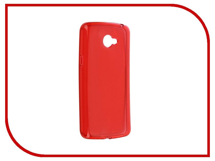 Аксессуар Чехол LG K5 X220ds Gecko Transparent-Glossy Red