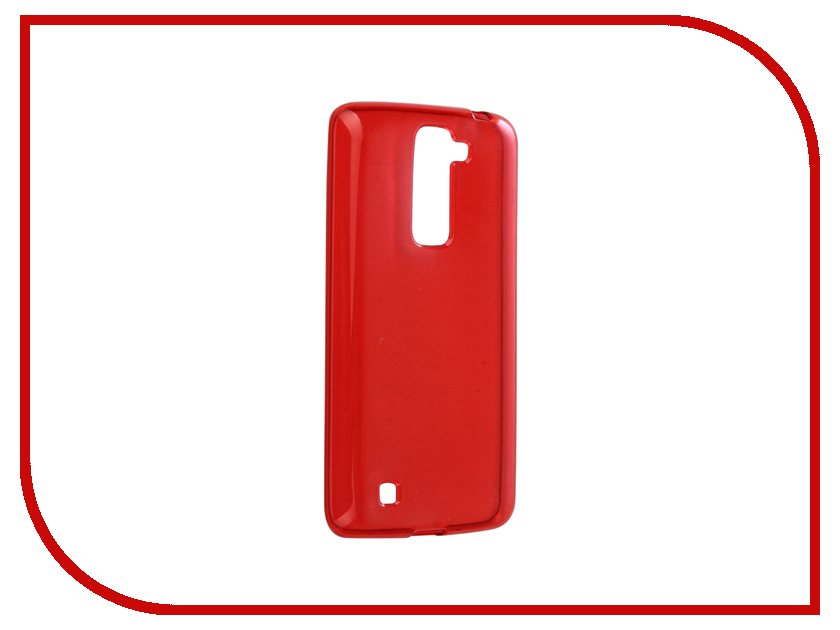 Аксессуар Чехол LG K7 X210ds Gecko Transparent-Glossy Red S-G-LGK7-RED аксессуар чехол накладка sony xperia z5 z5 dual e6653 e6683 gecko red s g sonz5 red