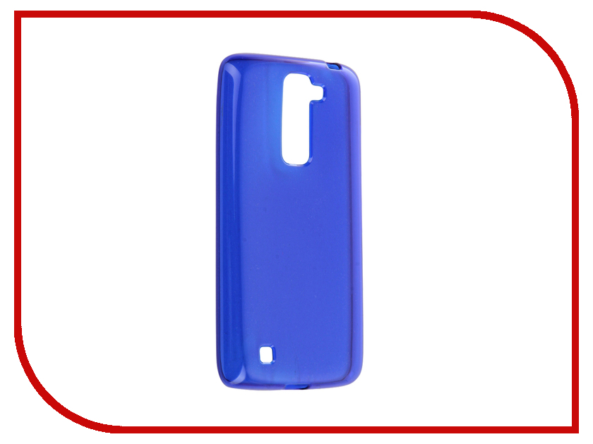 Аксессуар Чехол LG K7 X210ds Gecko Transparent-Glossy Blue S-G-LGK7-DBLU аксессуар чехол lg x style gecko transparent glossy red s g lgxs red