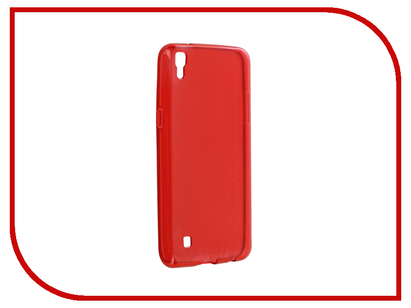 Аксессуар Чехол LG X Power Gecko Transparent-Glossy Red S-G-LGXP-RED