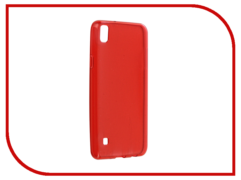 Аксессуар Чехол LG X Style Gecko Transparent-Glossy Red S-G-LGXS-RED
