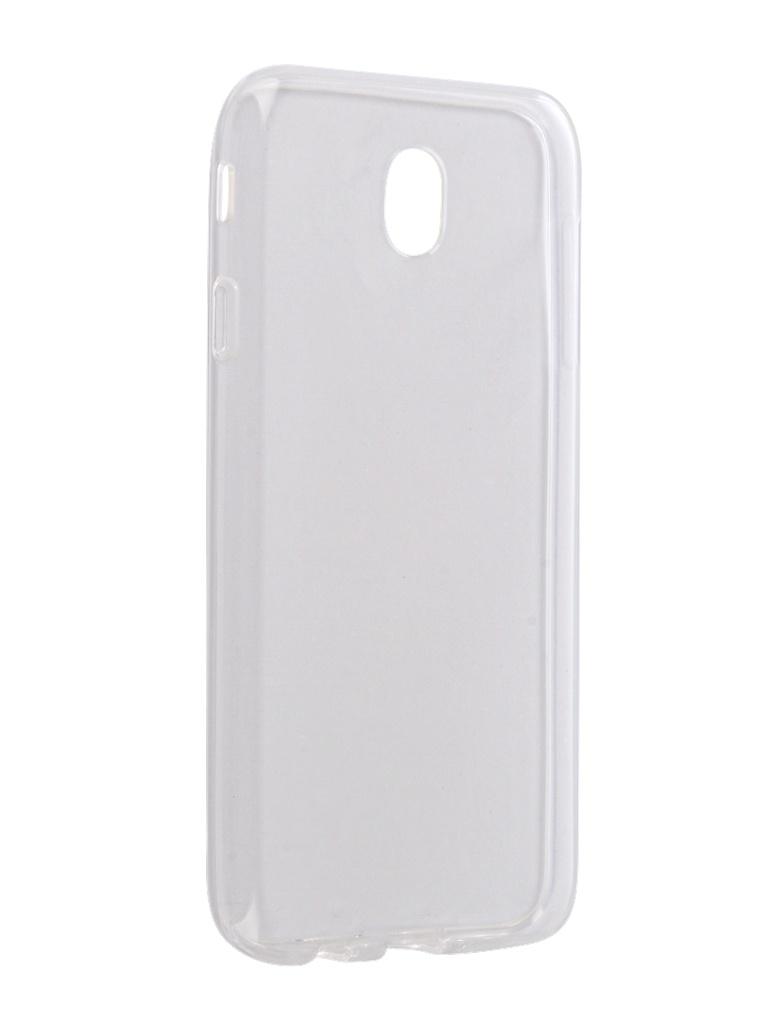Аксессуар Чехол Gecko для Samsung Galaxy J7 J730 2017 Transparent-Glossy White S-G-SGJ7-2017-WH аксессуар чехол для samsung galaxy s7 gecko silicone glowing white s g sv sams7 wh