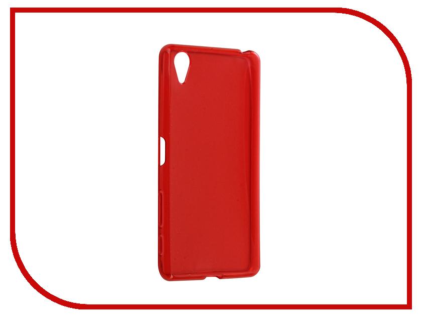 Аксессуар Чехол Sony Xperia X Gecko Transparent-Glossy Red S-G-SONX-RED