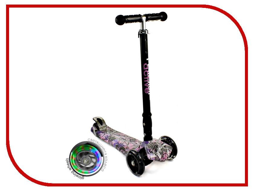 Самокат Triumf Active Maxi Flash Plus Forest Black-Pink-Purple
