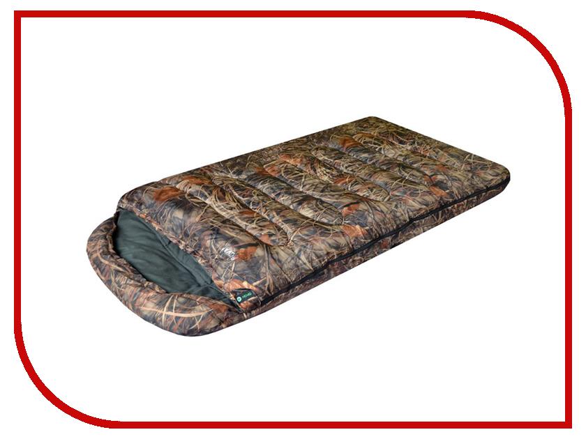 Cпальный мешок Prival Берлога II КМФ Правый одеяло с капюшоном 220x110cm -20 C / +4 C cпальный мешок alexika iceland red 9228 01062