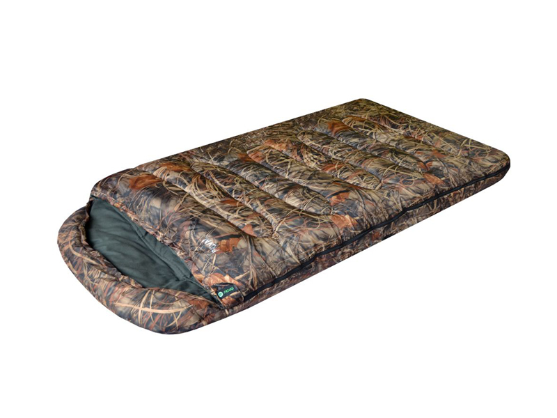 Cпальный мешок Prival Берлога II КМФ Правый одеяло с капюшоном 220x110cm -20 C / +4 C cпальный мешок onlitop одеяло 1391036
