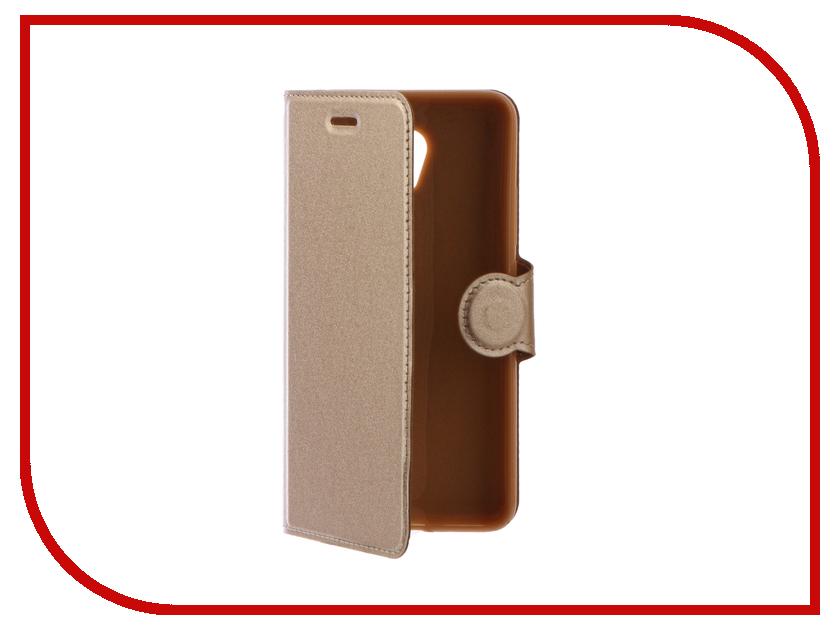 Аксессуар Чехол Meizu M5 Note Red Line Book Type Gold