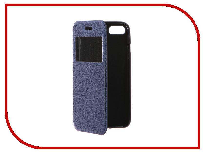 Аксессуар Чехол Gecko Book для iPhone 7 (4.7) Blue G-BOOK-IPH-7-DBLU аксессуар чехол gecko для apple iphone 6 blue