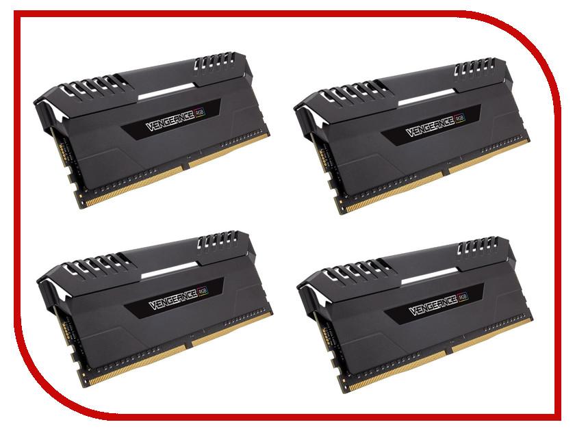 Модуль памяти Corsair Vengeance RGB DDR4 DIMM 3333MHz PC4-26600 CL16 - 32Gb KIT (4x8Gb) CMR32GX4M4C3333C16
