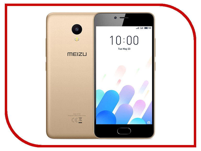 Сотовый телефон Meizu M5C 16Gb Gold смартфон meizu m5c 16gb m710h черный m710h 16 b