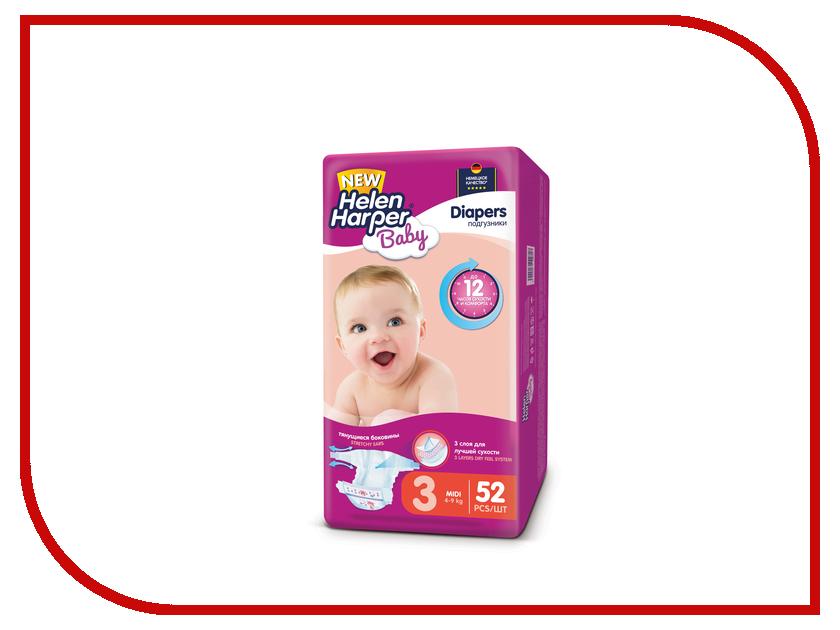 Подгузники Helen Harper Baby Midi 4-9кг 52шт 2310619