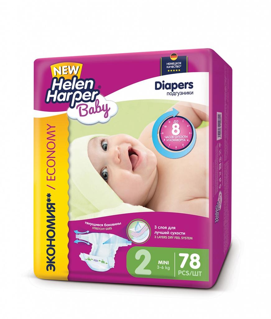 Подгузники Helen Harper Baby Mini 3-6кг 78шт 2310398 цена 2017