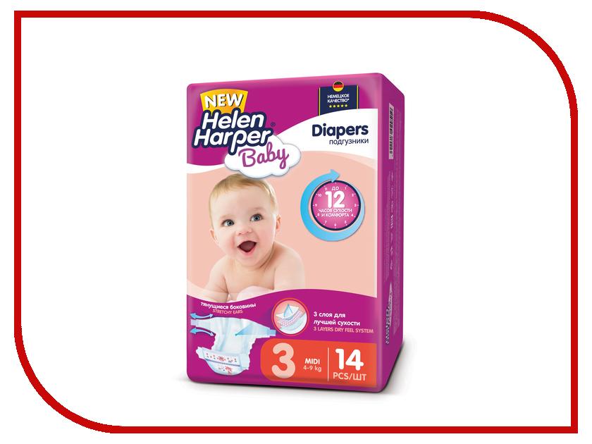 Подгузники Helen Harper Baby Midi 4-9кг 14шт 2310569 dk readers l3 helen keller