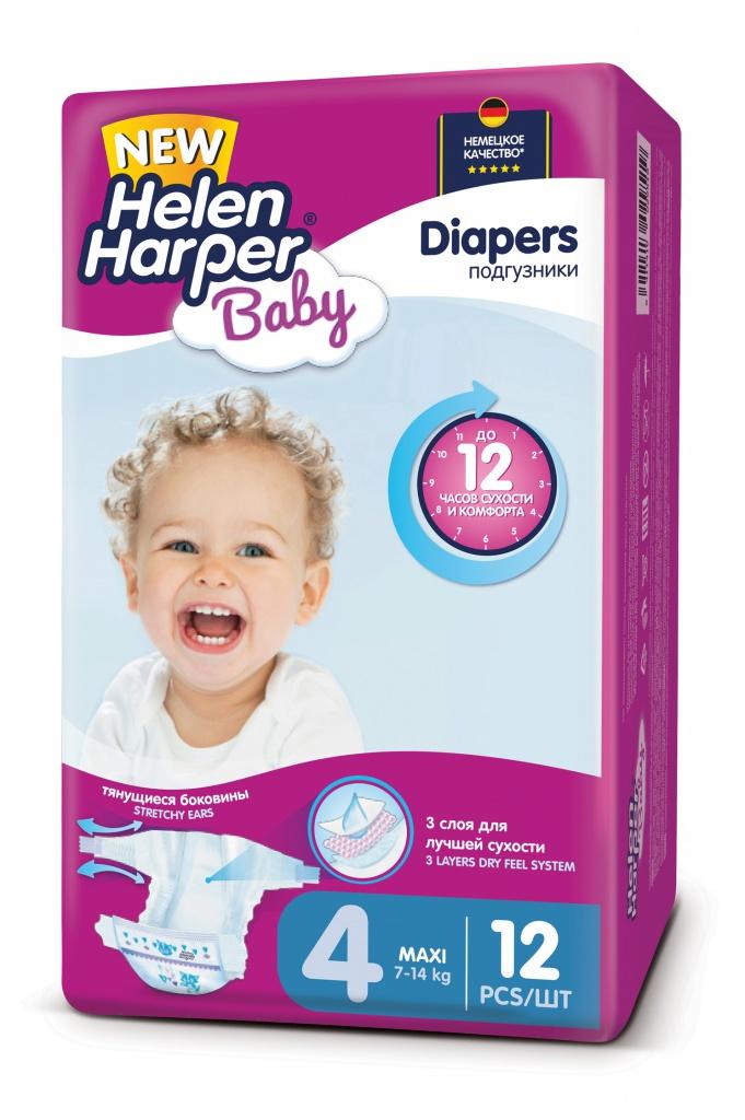 Подгузники Helen Harper Baby Maxi 7-14кг 12шт 2311075
