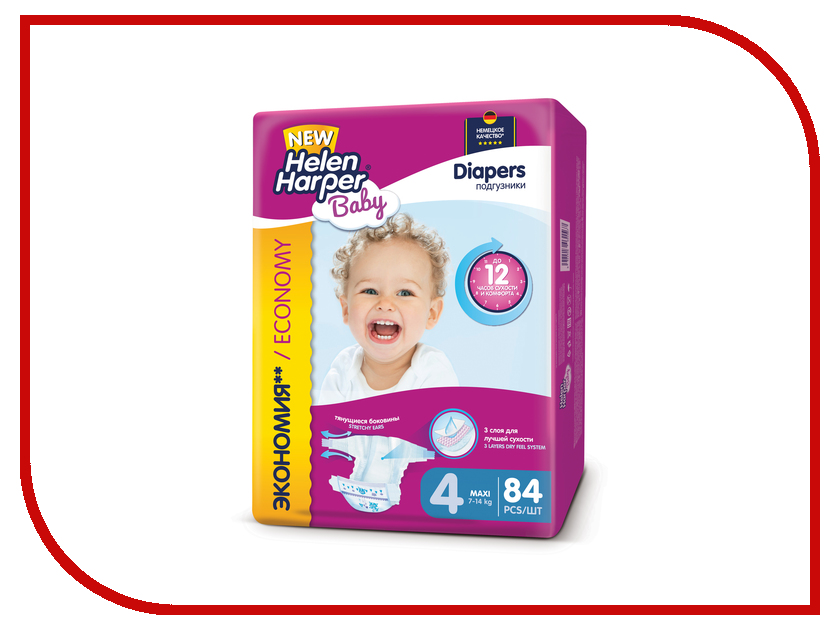 Подгузники Helen Harper Baby Maxi 7-14кг 84шт 2311331<br>