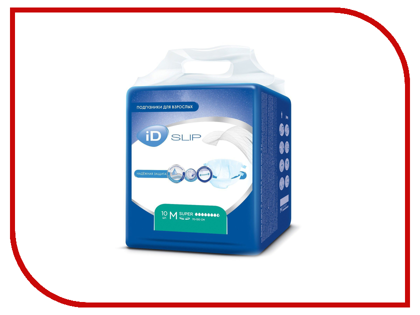 Подгузники iD Protect Slip M 10шт 945241550