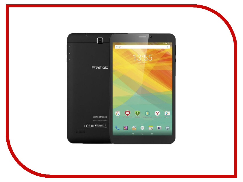 Планшет Prestigio MultiPad Wize 3418 4G PMT3418_4G_D_CIS Black (MediaTek MT8321 1.1 GHz/1024Mb/16Gb/Wi-Fi/Bluetooth/Cam/8.0/1280x800/Android)