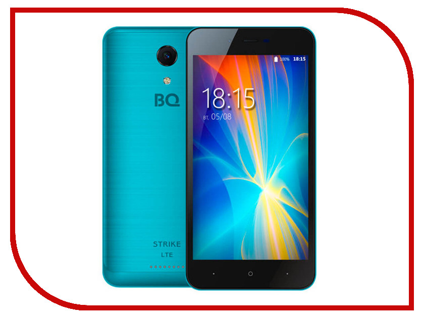 Сотовый телефон BQ 5044 Strike LTE Blue Brushed телефон bq 5022 bond