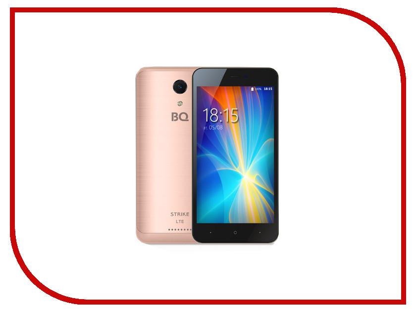 Сотовый телефон BQ 5044 Strike LTE Rose Gold Brushed сотовый телефон bq 5508l next lte golden