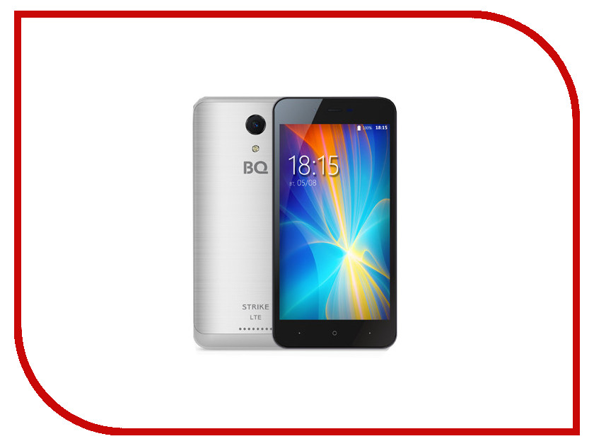 Сотовый телефон BQ 5044 Strike LTE Silver Brushed телефон bq 5022 bond