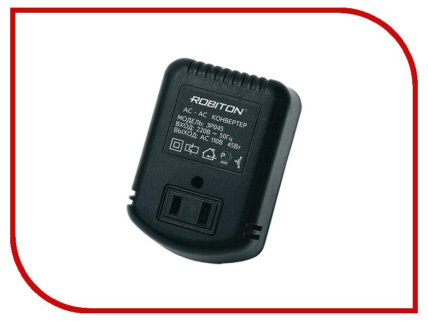 Аксессуар Robiton 3P045 220V/110V - конвертер-трансформатор розетка robiton el 01