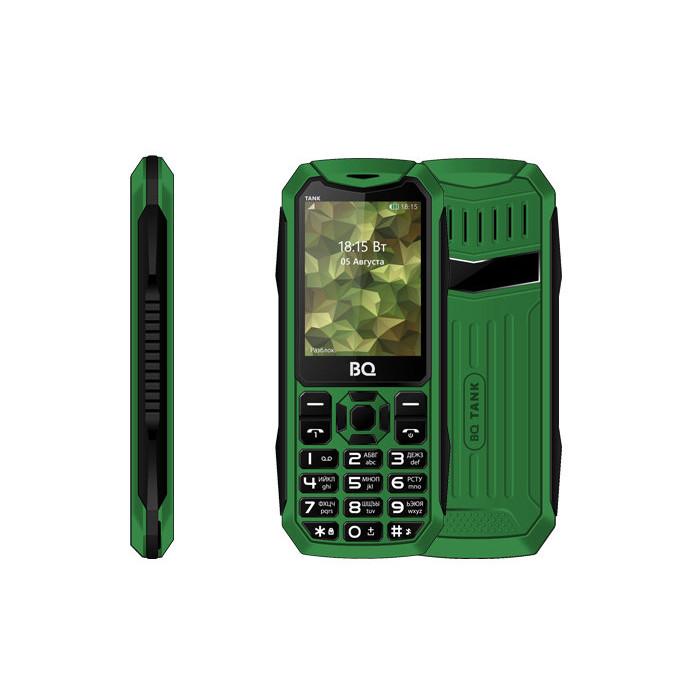 Сотовый телефон BQ 2428 Tank Green сотовый телефон bq 2808 telly black grey