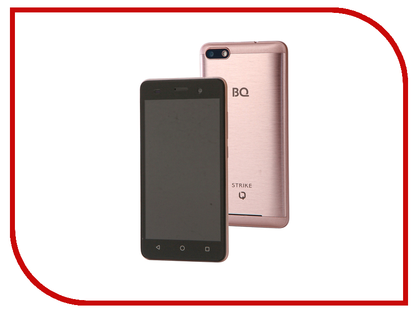 Сотовый телефон BQ 5020 Strike Rose Gold Brushed сотовый телефон bq 5007l iron rose gold