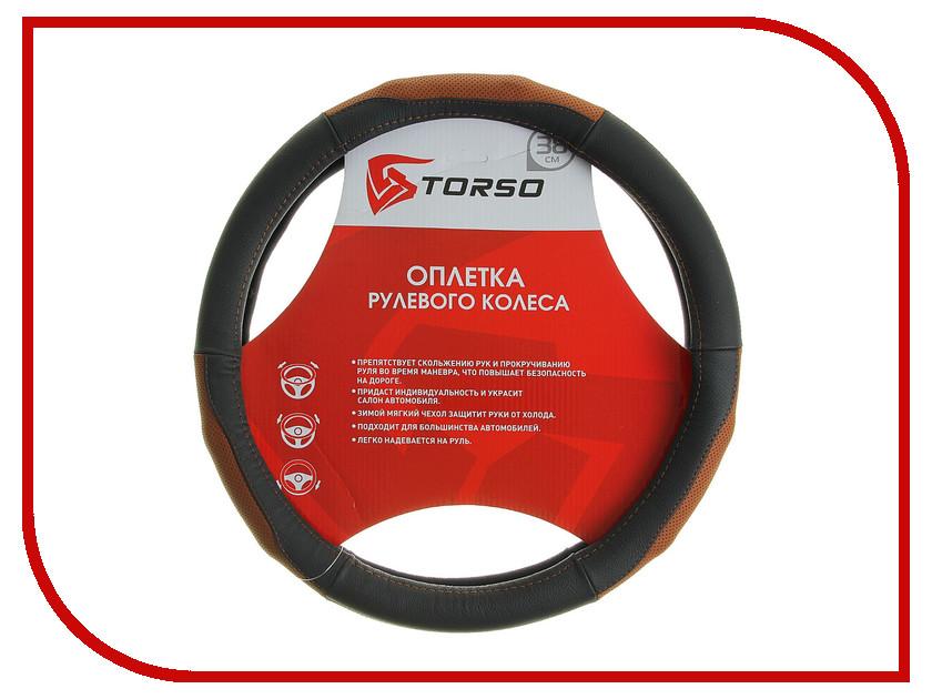 Оплетка на руль TORSO 38cm 1822686 оплетки на руль senator оплетка на руль кожаная california
