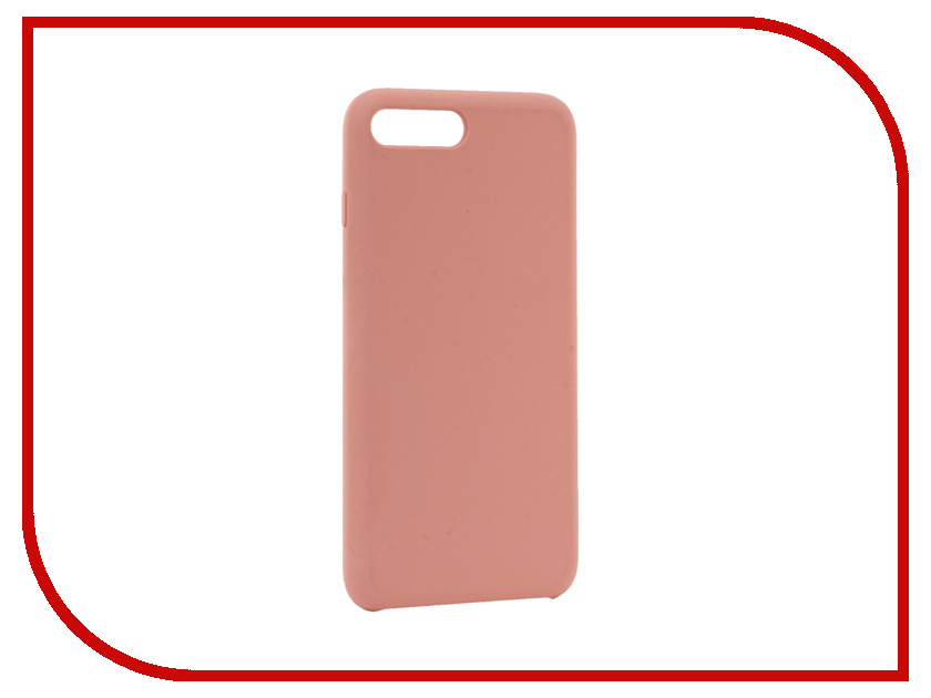 Аксессуар Чехол BROSCO Soft Rubber для APPLE iPhone 7 Plus Pink IP7P-SOFTRUBBER-PINK аксессуар чехол brosco soft rubber для apple iphone 7 red ip7 softrubber red