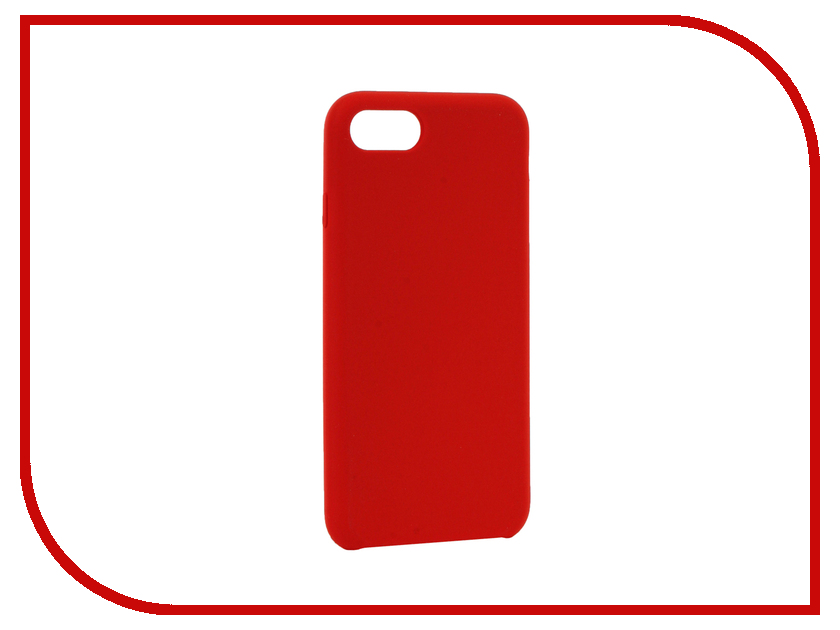 Аксессуар Чехол BROSCO Soft Rubber для APPLE iPhone 7 Red IP7-SOFTRUBBER-RED аксессуар чехол brosco soft rubber для apple iphone 7 red ip7 softrubber red