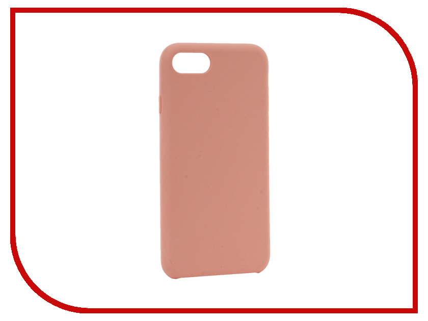 Аксессуар Чехол BROSCO Soft Rubber для APPLE iPhone 7 Pink IP7-SOFTRUBBER-PINK аксессуар чехол brosco soft rubber для apple iphone 7 red ip7 softrubber red
