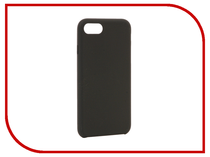 Аксессуар Чехол BROSCO Soft Rubber для APPLE iPhone 7 Grey IP7-SOFTRUBBER-GREY аксессуар чехол brosco soft rubber для apple iphone 7 red ip7 softrubber red
