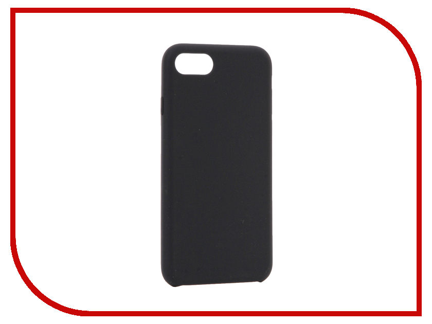 Аксессуар Чехол BROSCO Soft Rubber для APPLE iPhone 7 Dark Blue IP7-SOFTRUBBER-DARKBLUE аксессуар чехол brosco soft rubber для apple iphone 7 red ip7 softrubber red
