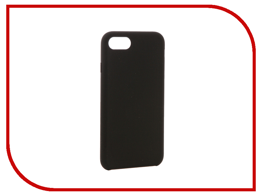 Аксессуар Чехол BROSCO Soft Rubber для APPLE iPhone 7 Black IP7-SOFTRUBBER-BLACK аксессуар чехол brosco soft rubber для apple iphone 7 red ip7 softrubber red