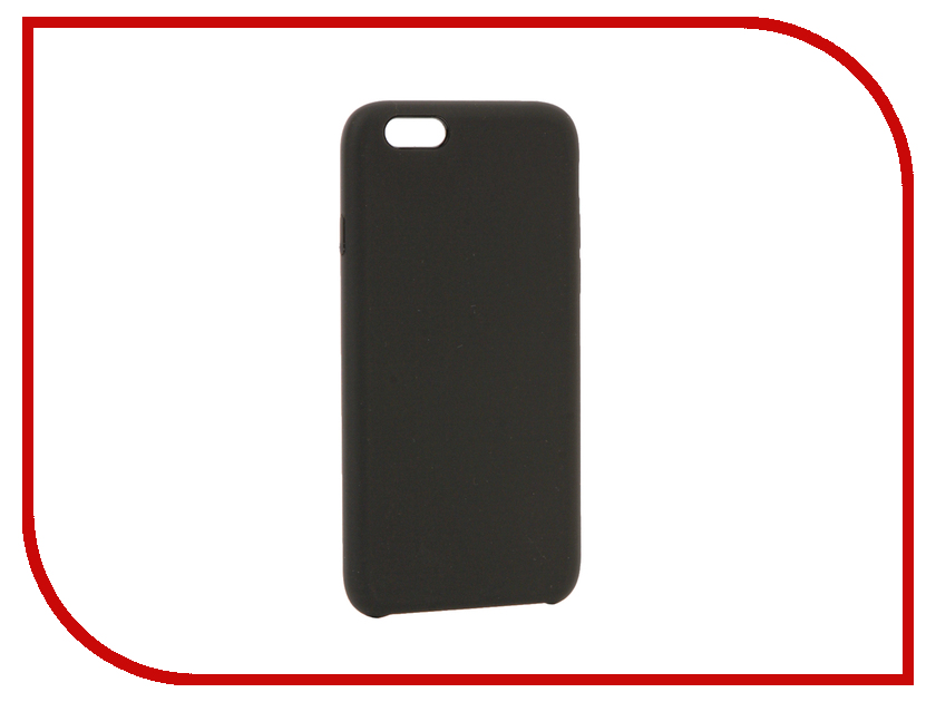 Аксессуар Чехол BROSCO Soft Rubber для APPLE iPhone 6 Grey IP6-SOFTRUBBER-GREY аксессуар чехол brosco soft rubber для apple iphone 7 red ip7 softrubber red