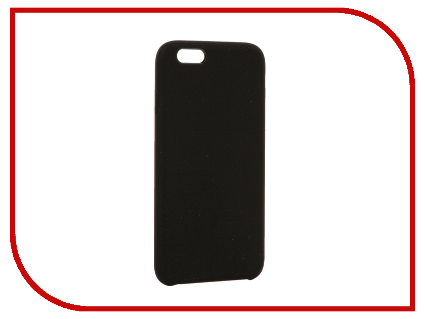 Аксессуар Чехол BROSCO Soft Rubber для APPLE iPhone 6 Black IP6-SOFTRUBBER-BLACK аксессуар чехол brosco soft rubber для apple iphone 7 red ip7 softrubber red