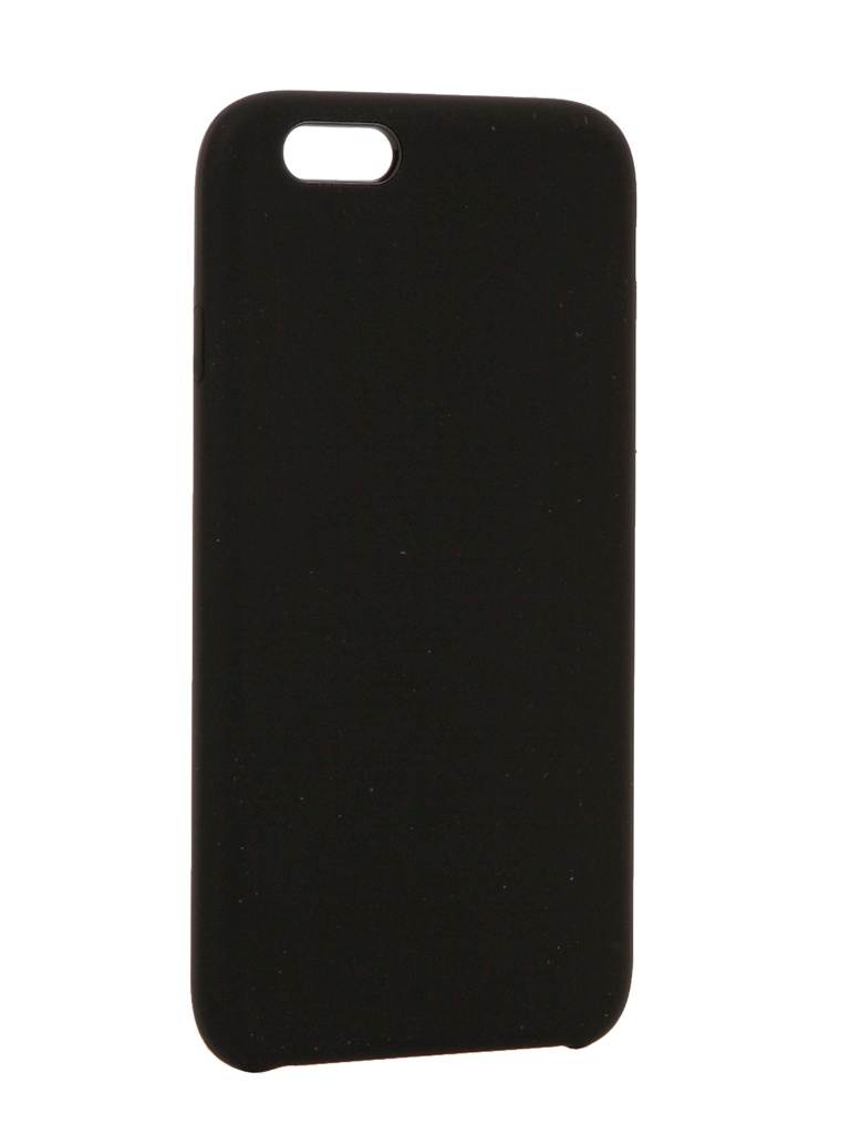 Чехол Brosco для APPLE iPhone 6 Soft Rubber Black IP6-SOFTRUBBER-BLACK