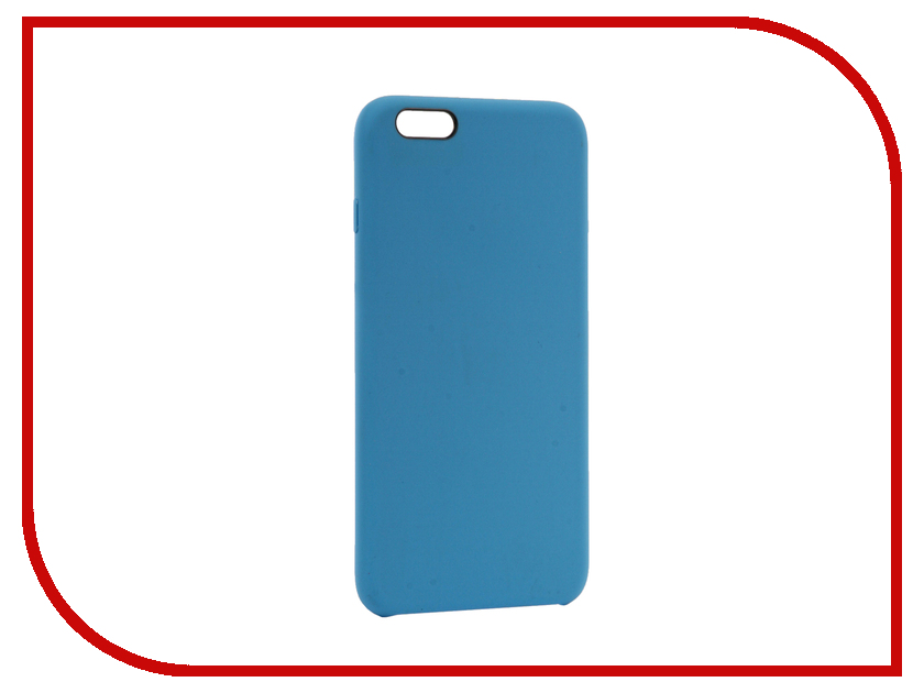 Аксессуар Чехол BROSCO Soft Rubber для APPLE iPhone 6 Plus Blue IP6P-SOFTRUBBER-BLUE аксессуар чехол brosco soft rubber для apple iphone 7 red ip7 softrubber red