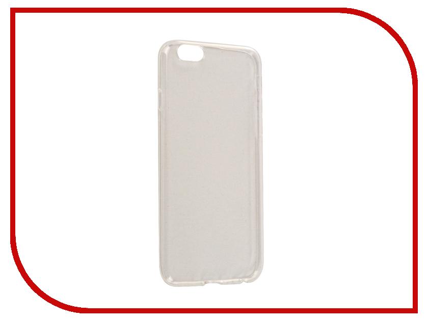 Аксессуар Чехол BROSCO Silicone для APPLE iPhone 6 Transparent IP6-TPU-BMP-TRANSPARENT чехол brosco croco для iphone 6 черный с имитацией под крокодиловую кожу