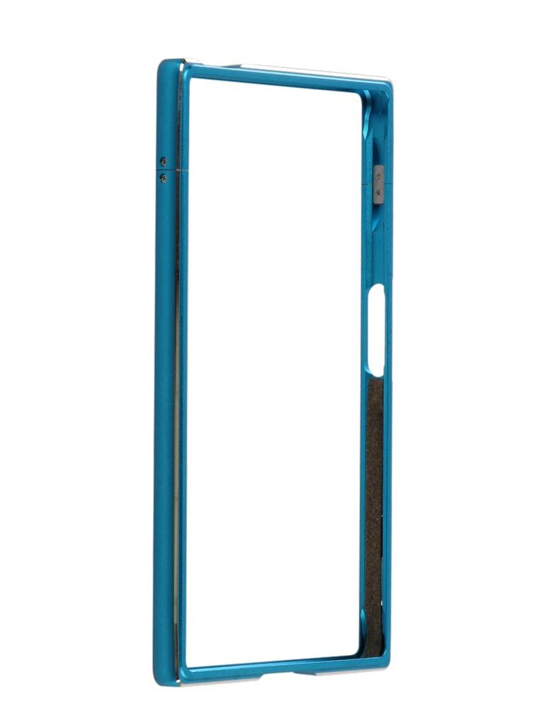 Аксессуар Чехол Brosco для Sony Xperia XZs Blue XZS-BMP-BLUE