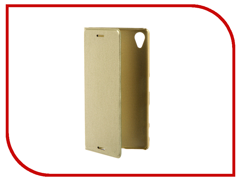 Аксессуар Чехол Sony Xperia X Performance BROSCO PU Gold Lime XP-BOOK-GOLDLIME аксессуар чехол htc u ultra brosco black htc uu book black