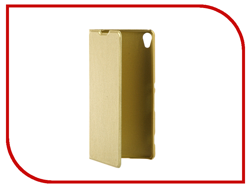 Аксессуар Чехол для Sony Xperia XA BROSCO PU Gold Lime XA-BOOK-GOLDLIME аксессуар чехол htc u ultra brosco black htc uu book black