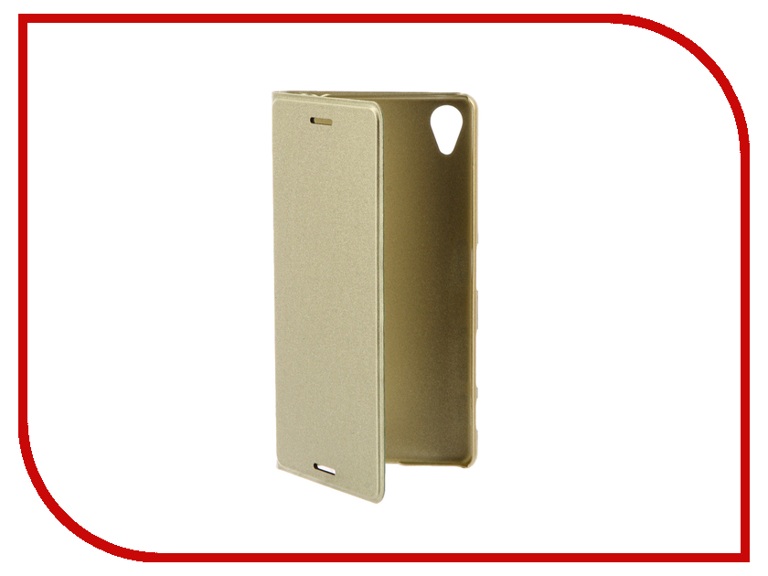 Аксессуар Чехол Sony Xperia X BROSCO PU Gold Lime X-BOOK-GOLDLIME аксессуар чехол htc u ultra brosco black htc uu book black