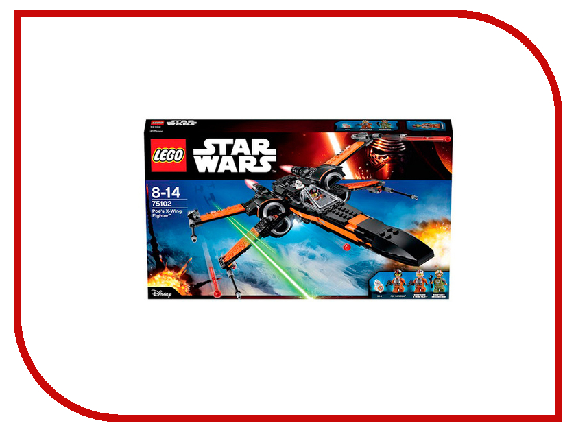 Конструктор Lego Star Wars Истребитель По 75102 lego lego star wars 75078 транспорт имперских войск