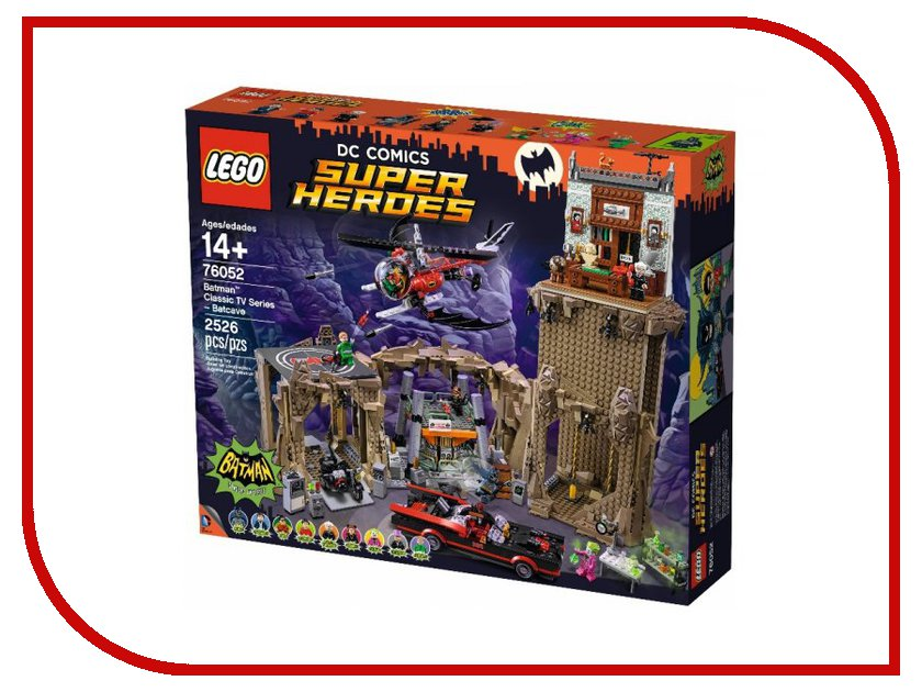 Конструктор Lego DC Super Heroes Пещера Бэтмена 76052 конструктор lego super heroes росомаха против магнето 76073