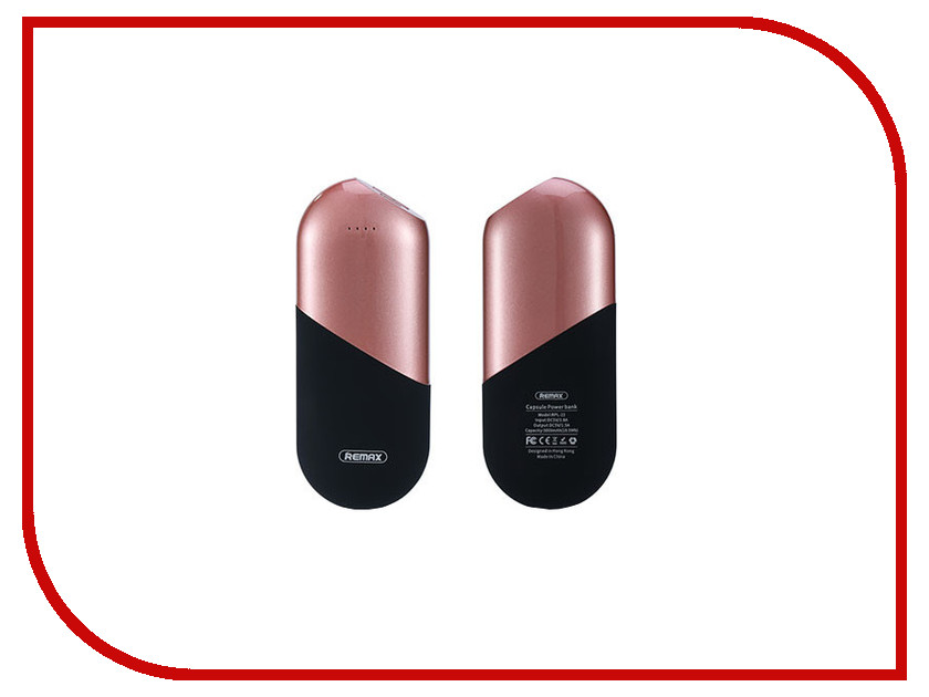 Аккумулятор Remax RPL-22 Capsule Power Bank 5000mAh Rose Gold 71901 внешние аккумуляторы remax power bank 5000 ma remax capsule rpl 22 rose gold
