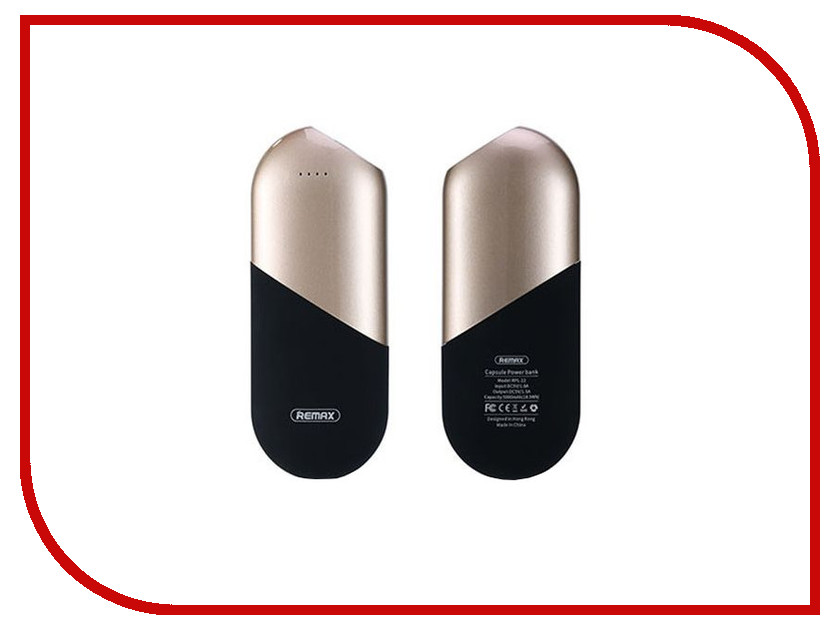 Аккумулятор Remax RPL-22 Capsule Power Bank 5000mAh Gold 71900 внешние аккумуляторы remax power bank 5000 ma remax capsule rpl 22 rose gold