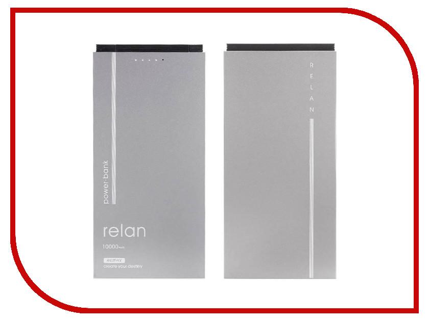 Аккумулятор Remax Power Bank RPP-65 Relan 10000mAh Grey 71922 power bank 3000mah цена