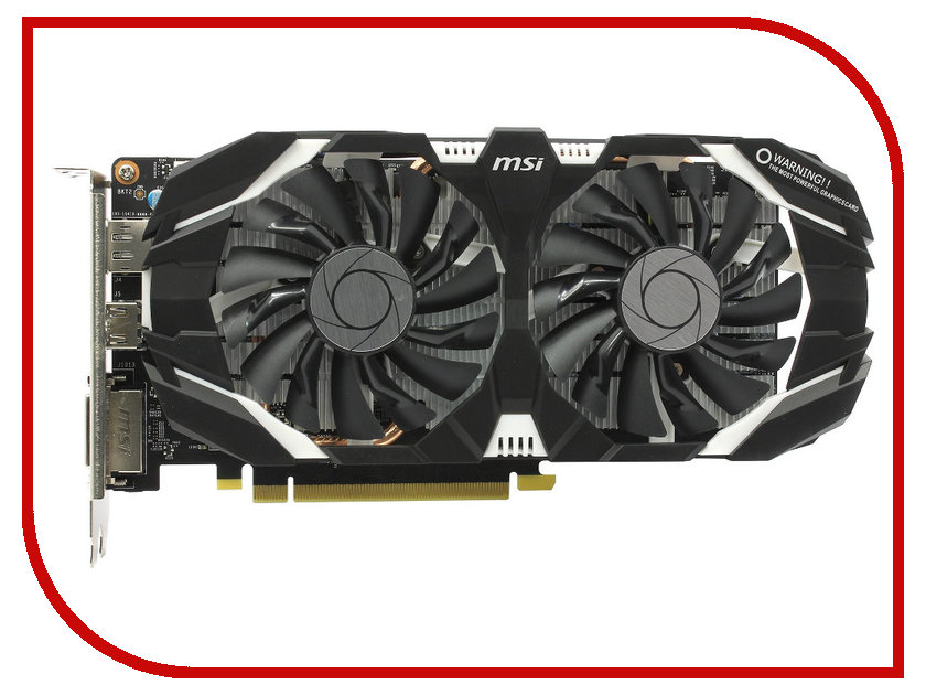 Видеокарта MSI GeForce GTX 1060 1520Mhz PCI-E 3.0 3072Mb 8008Mhz 192 bit DVI HDMI DP HDCP GTX 1060 3GT
