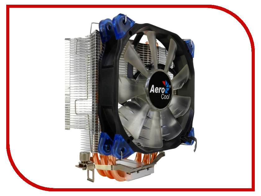 Кулер AeroCool Verkho 5 (Intel LGA 2011/1156/1155/1150/1366/775 / FM1/FM2/AM2/AM2+/AM3/AM3+) for intel 1150 1155 1366 1u cpu computer case server double ball bearing turbo fan super thin copper radiator 4pin
